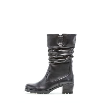 Gabor Dunmow - Black Leather- Mid Length - Wide Fitting Boot