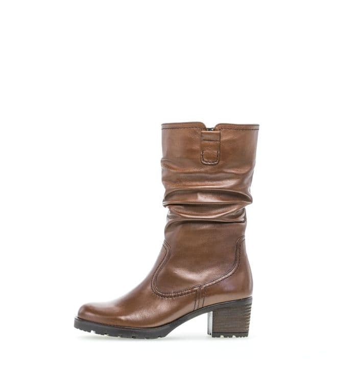 Gabor Dunmow - Brown Leather - Mid Length  - Wide Fitting Boot