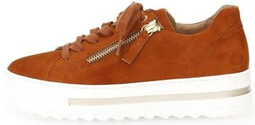 Gabor Heather - Rost  suede Wide fit casual trainer
