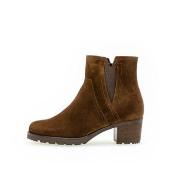 Gabor Invitation - Whisky Suede -  Wide Fitting Ankle Boot