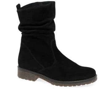 Gabor Mya - Black Suede - Mid Length -Wide Fitting Boot