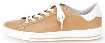 Gabor Operator - Light Tan Leather - Lace-up Trainer - Wide Fit