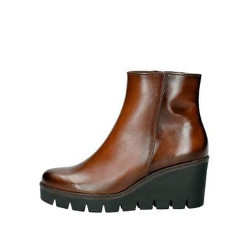 Gabor Utopia - Brown leather Wedge Ankle Boot