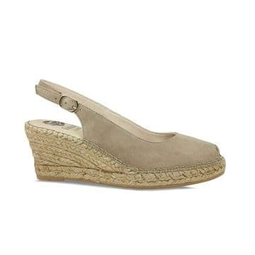 Lisa Kay Emmy Taupe Suede Wedge Sandals