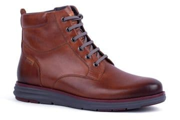 Pikolinos Arenas M3P-8026 - tan  Leather Lace Up Boot