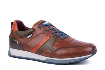 Pikolinos Cambil M5N-6344C2 - brown Leather Lace Up Casual Trainer