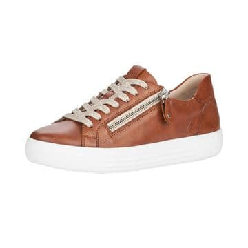 Remonte D0903  Womens Brown Leather- Wide Fit- Lace up Shoe
