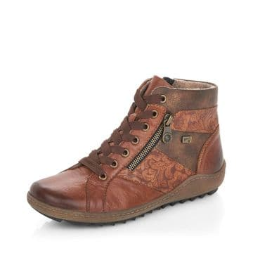 Remonte R1497 - brown Leather Waterproof Wide Fit Ankle Boot