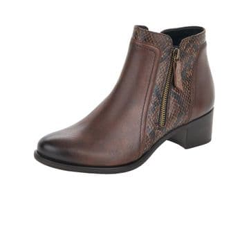 Remonte R5172 womens zip up boots