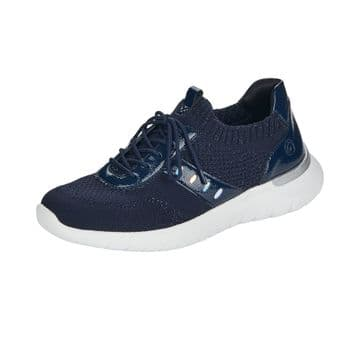 Remonte R5701 Womens Navy Fabric - Slip On-w/lace detail Trainer