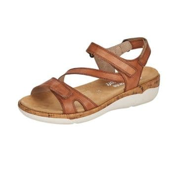 Remonte  R6850  Womens  Brown Leather -With Velcro Fastening -Sporty Sandal