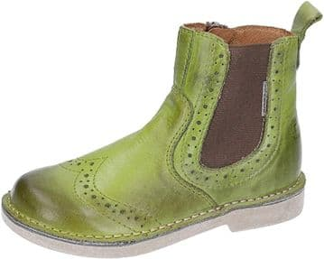 Ricosta Dallas leaf Leather Chelsea Boot Side Zip Fastening With Elastic Panel