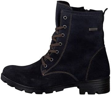 Ricosta Disera See (Navy) Suede Waterproof Lace Up Side Zip Fastening Boot