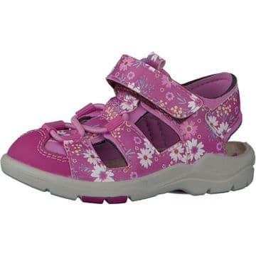 Ricosta Gery Pink/Pink Floral Closed Toe Sandals