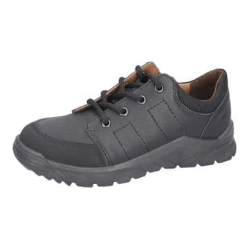 Ricosta Nate Black Leather Lace Up School Shoe (Med)