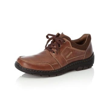 Rieker 19911 - brown Wide Fitting Lace Up Casual Shoe