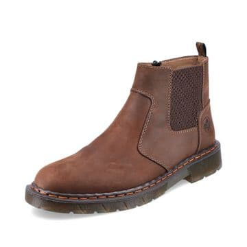 Rieker 32650 - brown Wide Fitting Zip Up Ankle Boot
