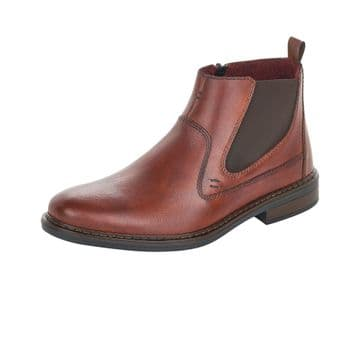 Rieker 37662 mens zip up ankle boot wide fit
