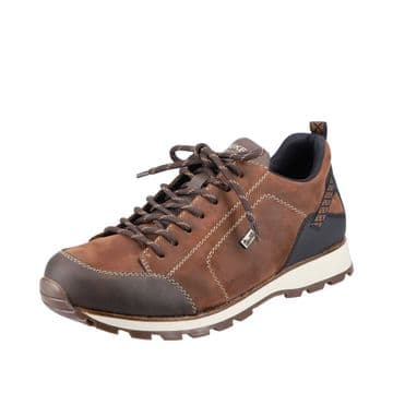 Rieker B5721 - Brown Suede -  Wide Fitting Lace Up Shoe