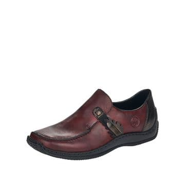 Rieker L1759 Red leather Slip-On Shoe