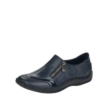 Rieker L1761 Navy Leather with Zip Shoe