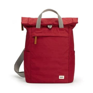 Roka Finchley A - Small Sustainable  Backpack -Volcanic Red