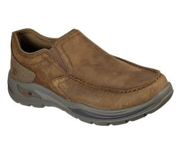 Skechers Arch Fit Motley Hust - brown slip-on casual