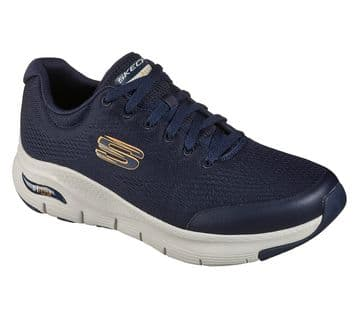 Skechers Arch Fit Navy lace-up trainer