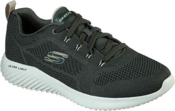 Skechers Bounder Rinset- Olive  lace-up trainer