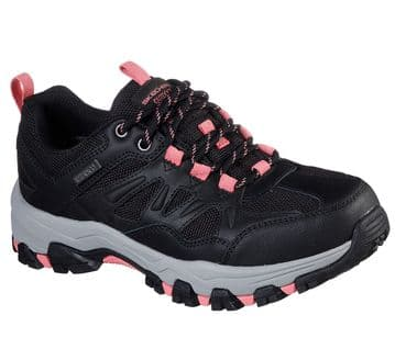 Skechers Selmen-West Highland-Waterproof Relaxed Fit - Black/Charcoal lace-up Trainer
