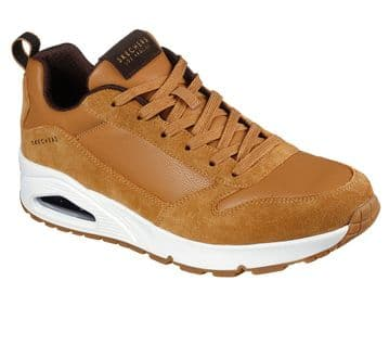 Skechers Uno - Stacre - Whiskey lace-up trainer