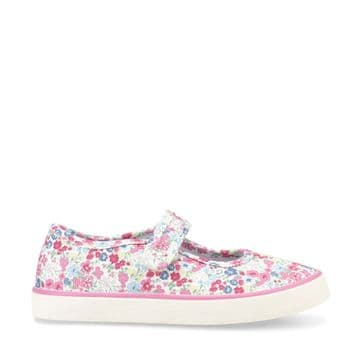 Start-Rite Blossom Pink Floral Canvas Shoes