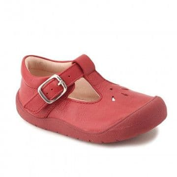 Start-Rite First Evy Red T-Bar Buckle Fastening Shoes