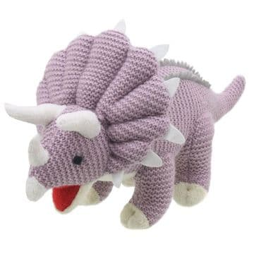 Wilberry Knitted Soft Toy Triceratops WB004309