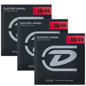 Dunlop Electric Guitar Strings 3 pack - Nickel Wound, Medium 10-46