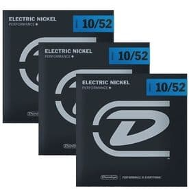 Dunlop Electric Guitar Strings 3 pack - Nickel Wound, Medium 10-52