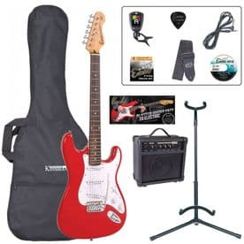 Encore E6 Electric Guitar Pack – Red