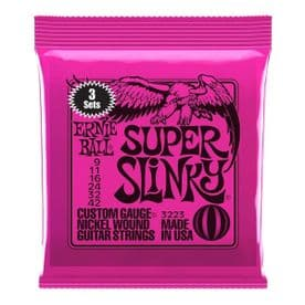 Ernie Ball Super Slinky Nickel Wound Electric Guitar Strings 3 Pack - 9-42 Gauge