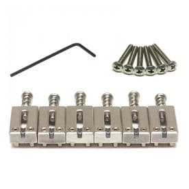 "GraphTech PG-8000-00 : String Saver Classics Strat & Tele 2 1/16"" String Spacing - Brushed Steel"