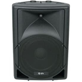 QTX QS15A Active 700 Watt Moulded Speakers