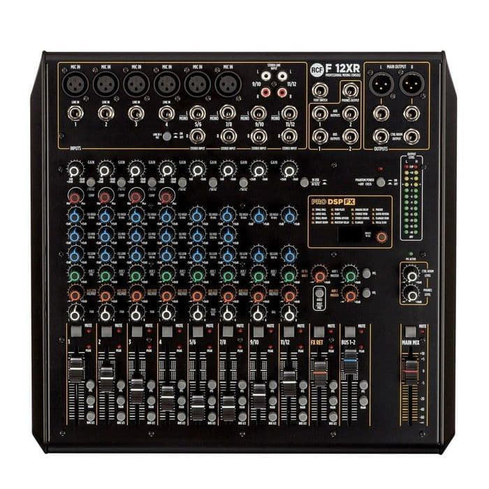 RCF F-12XR 12 Channel Mixing Console With Multi-FX & Recording