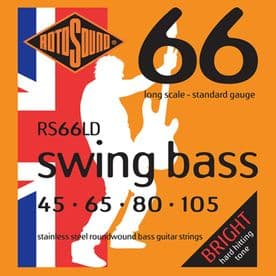 Rotosound RS66LD Swing Bass 66 String Set Electric Bass Stainless Steel