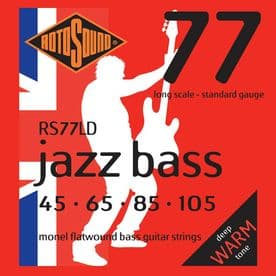 Rotosound RS77LD  Flatwound Bass Guitar Strings