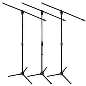 UltimateSupport MC-40B Pro (3 Pack) Microphone Boom Stands