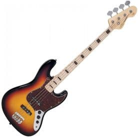 Vintage VJ74 Reissued Bass - Maple Neck - Sunset Sunburst