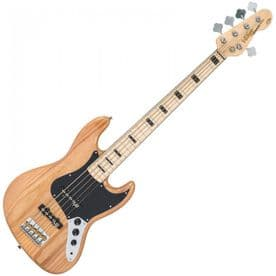 Vintage VJ75 Maple Board ReIssued Bass Guitar - 5-String - Natural Ash