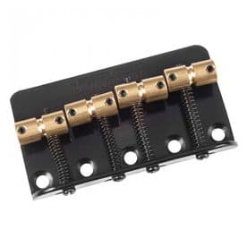 Wilkinson Barrel-Style Bass Bridge - Black
