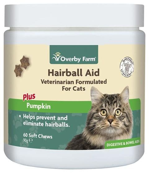 Hairball Aid For Cats Soft Chews 60pcs