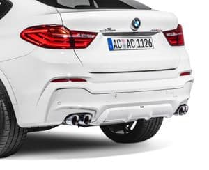 Quad sports exhaust for BMW X4 (F26), from