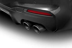 Sport tailpipe set for BMW 5 series (G30/G31), ceramic black